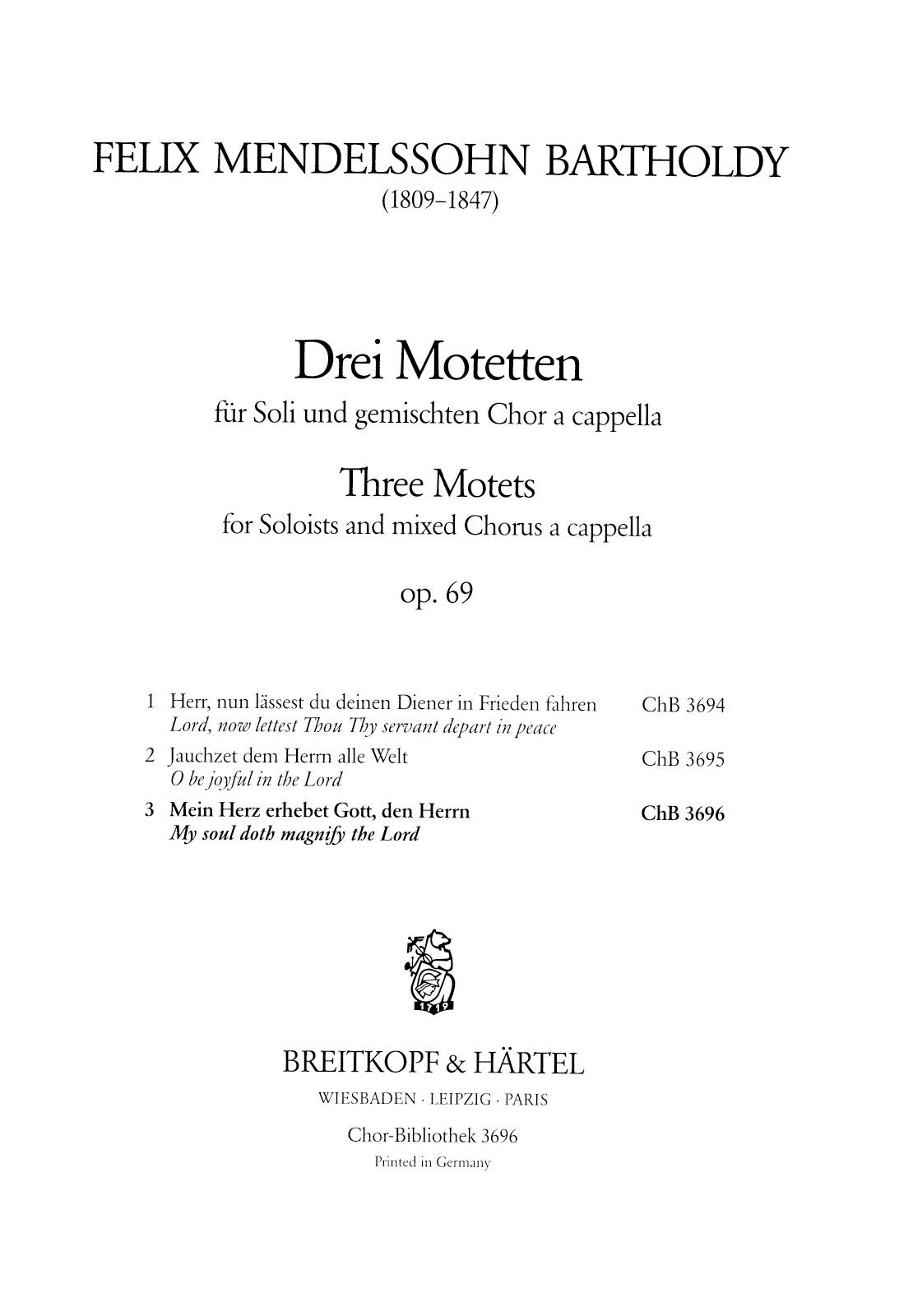 3 Motets Op. 69
